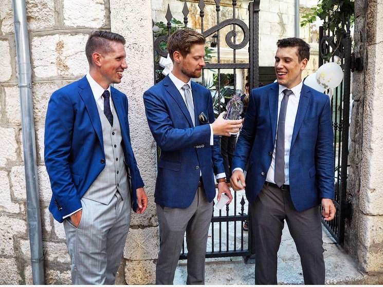 Groom and his best man at traditional Croatian wedding
