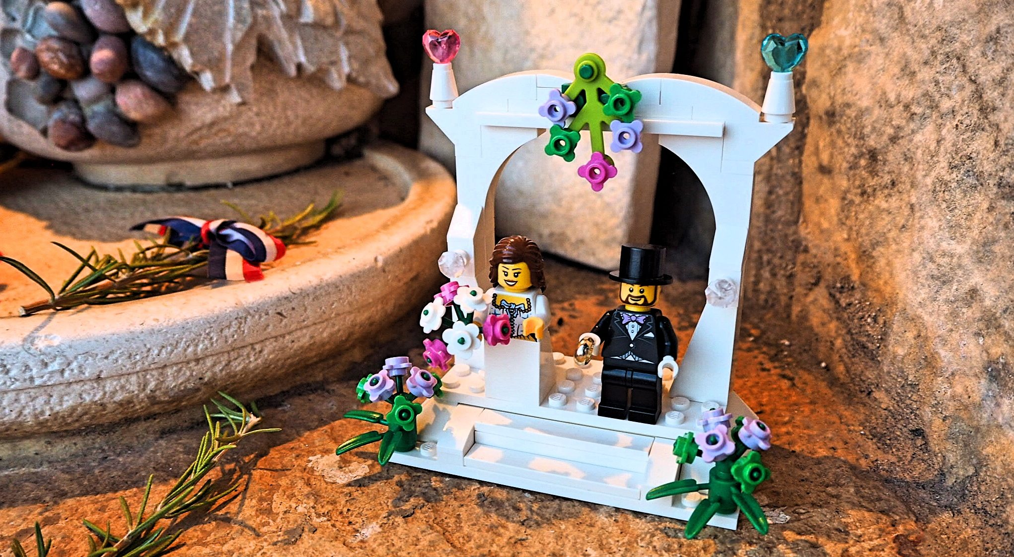 Croatian lego wedding decoration