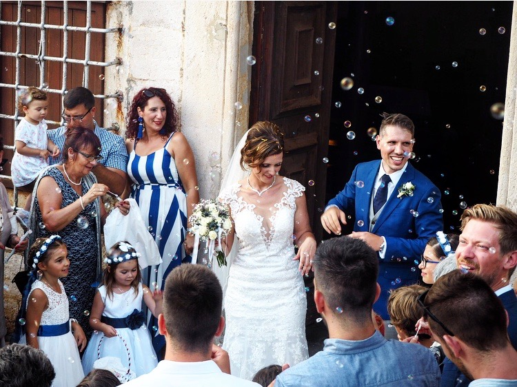 Married couple traditional Croatian wedding