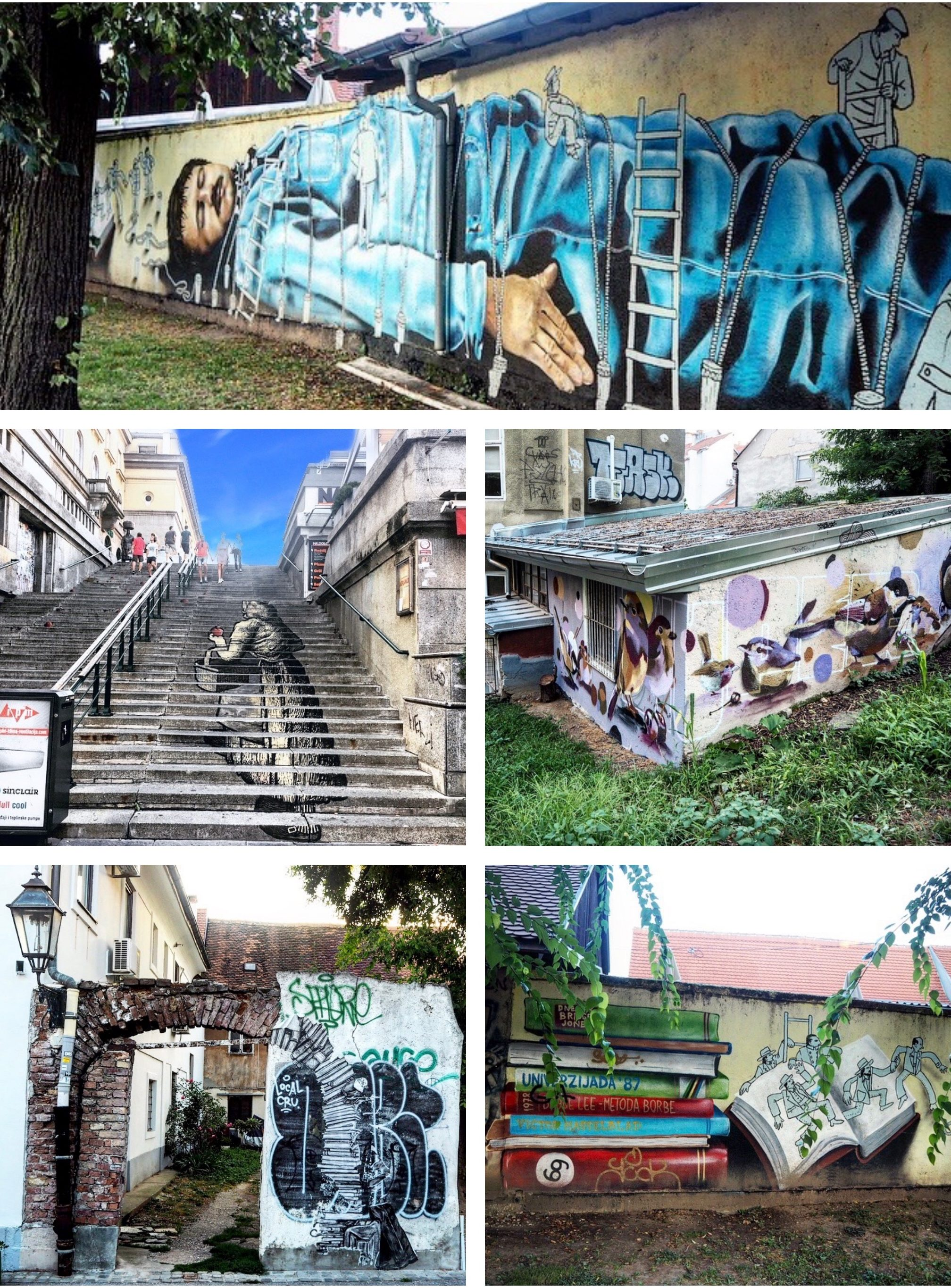 Streetart Zagreb graffiti collage