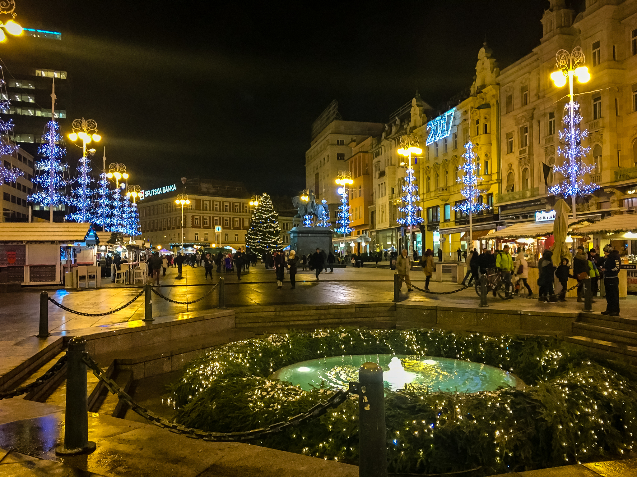 Ban Jelacic square in winter