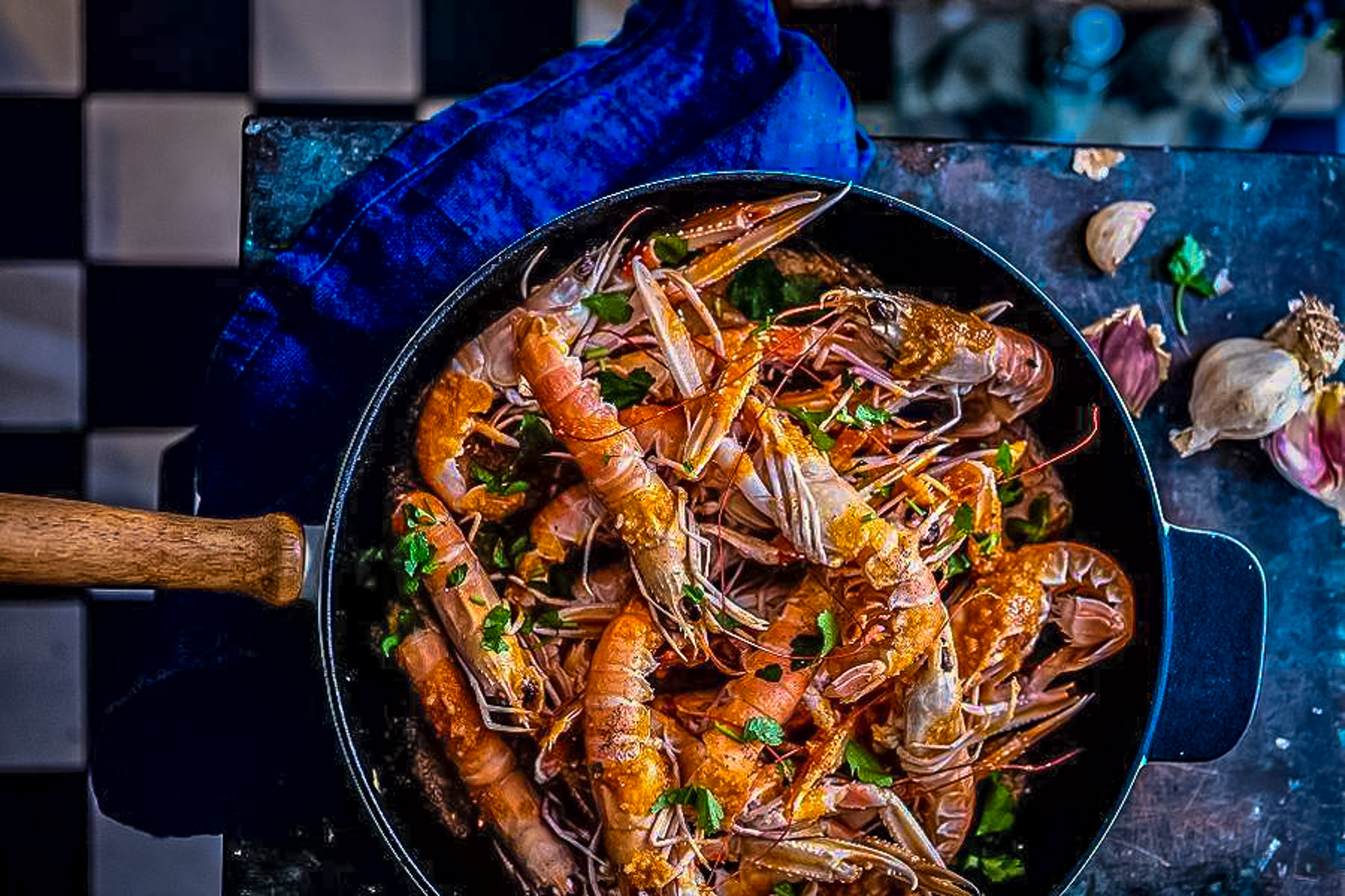 Croatian cuisine - shrimps