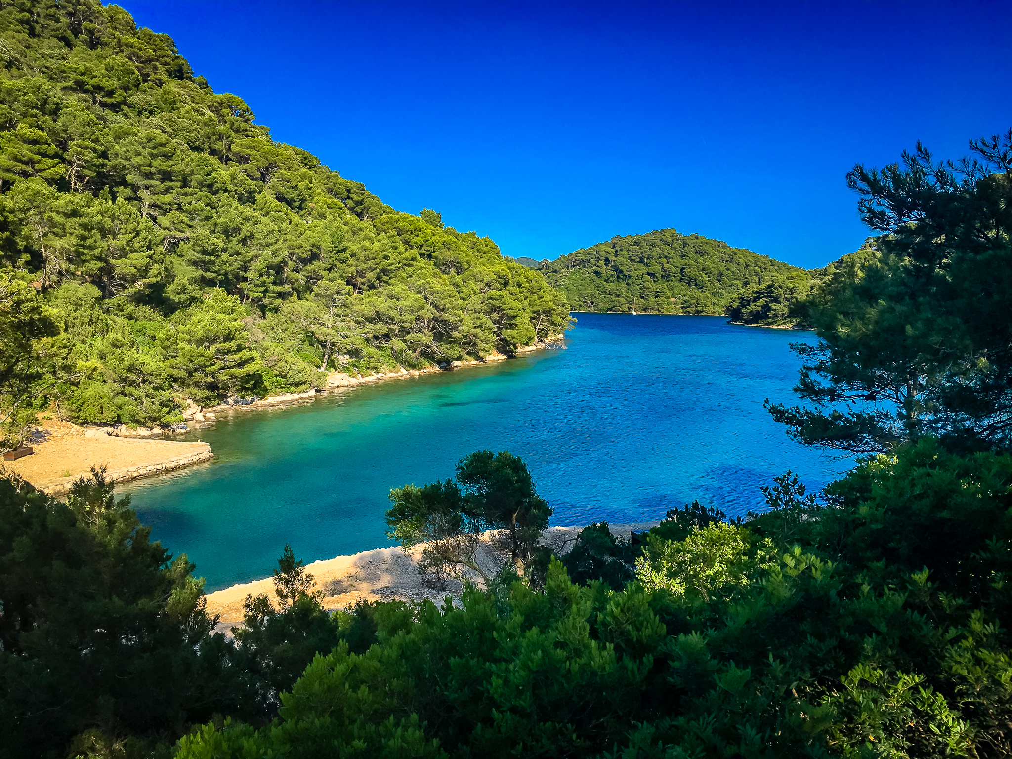 Larger lake at Island mljet
