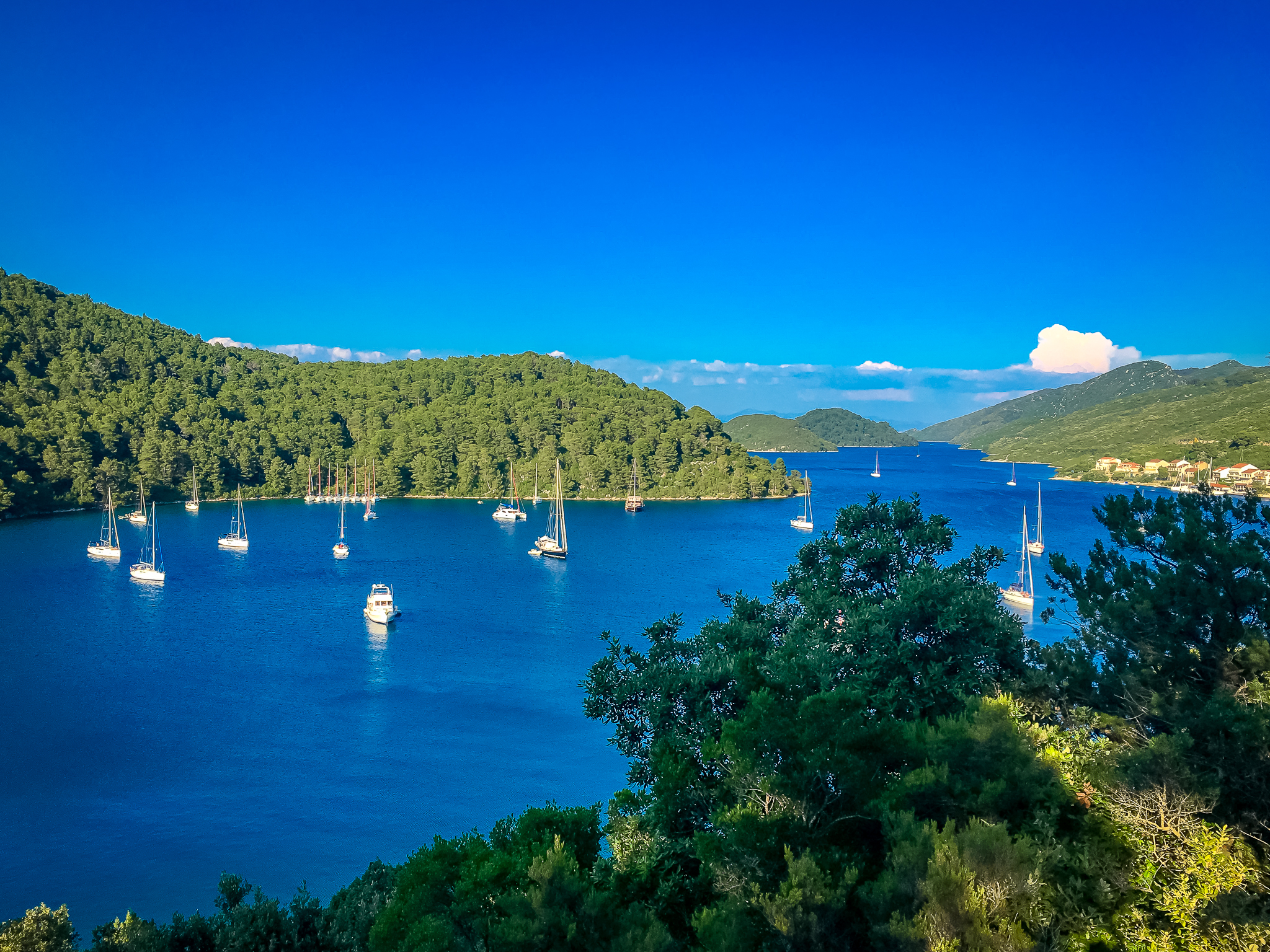 Bay of Polace on the Island of Mljet