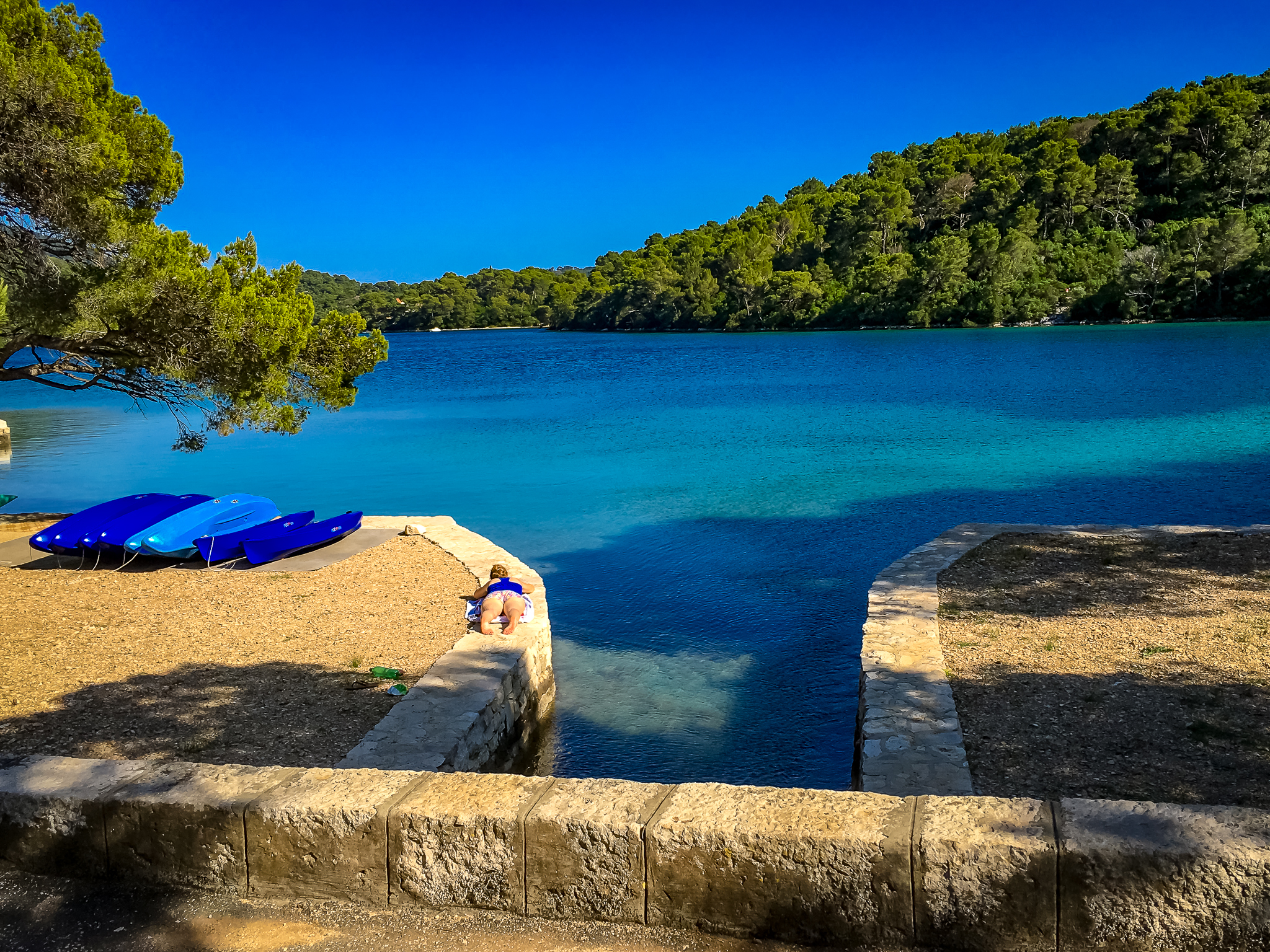 The connection between the larger and the smaller lake in national park mljet